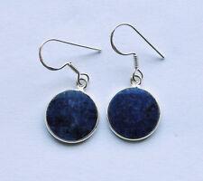 925 Sterlingsilber Ohrringe mit blauen Sodalith Edelsteinen, rund