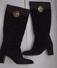 c39d3d85adb Tory Burch knee high black riding suede leather boots 3