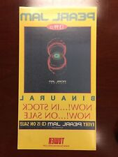 Pearl Jam Rare Promo Binaural Tower Records Retail Window Cling