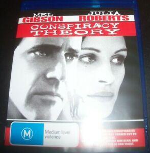 Conspiracy Theory (Mel Gibson Julia Roberts) (Aust Region B) BLURAY – Like New