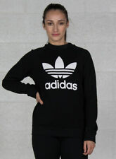 Felpa Girocollo Donna adidas Originals Trefoil Crewneck Nero Taglia 40 (s) cod D