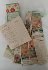EVERY PLAYER YOUR PARTNER SYSTEM TALLIES bridge score pads FLOWER SERIES 1920's
