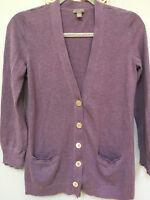 EUC J Jill Womens cotton cardigan sz S in light lavendar.