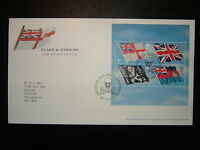 2001 FLAGS & ENSIGNS ROYAL MAIL FDC & ROSYTH, DUNFERMLINE SHS CV £12