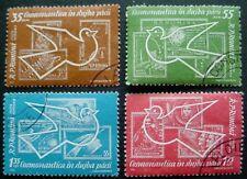 1962 ROMANIA: COSMIC FLIGHTS: SET OF 4 CTO MNH STAMPS: FULL GLUE