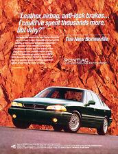 1992 Pontiac Bonneville - Original Car Advertisement Print Ad J271