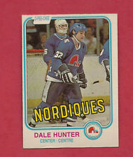 1981-82 OPC # 277 NORDIQUES DALE HUNTER  ROOKIE CARD
