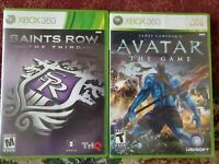 LOT OF 2 XBOX 360 Games Saints Row + Avatar the Game