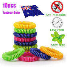 10x Anti toxic Mosquito Insect Repellent Wrist Band Bug Bracelet Camping Outdoor