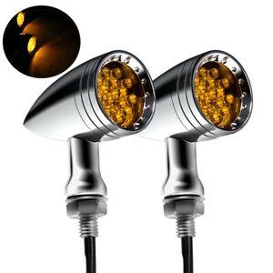 2pcs Motorcycle LED Turn Signal Blinker Lights For Harley Sportster XL 1200 883
