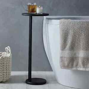 New Modern Stylish Design Elements Matt Black Bath Side Table Bathroom Accessory
