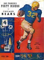 1953 (Nov. 1) NFL Football Program, Chicago Bears @ San Francisco 49ers ~ POOR