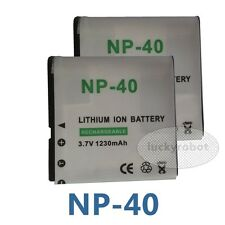 2pcs Battery For HP PAC-0040 PAC0040 CNP-40 NP40 Exlim EX-Z1050 EX-Z1000