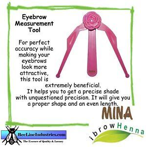 Mina iBrow Henna Eyebrow Measurement Tool