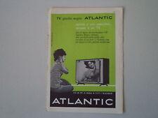 advertising Pubblicità 1961 TELEVISORE ATLANTIC SPECCHIO MAGICO