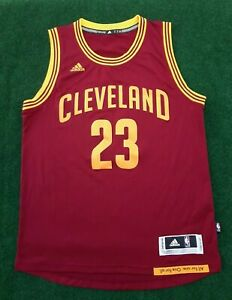 Lebron James Men Size Medium Cavaliers Red Adidas Jersey Swingman Jersey
