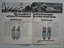 11/1975 PUB PRATT & WHITNEY CANADA PT6 TURBINE POWER MEDIUM LIFT HELICOPTER AD