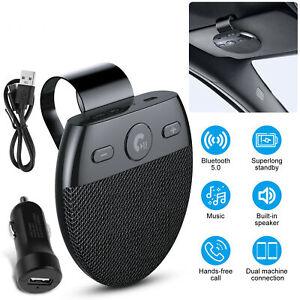 Wireless Bluetooth 5.0 Speakerphone Speaker Phone Visor Clip Hands Free Car Kit
