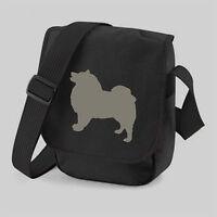 Keeshond Bag, Dog Bag, Silhouette Messenger Shoulder Bags Birthday or Xmas Gift