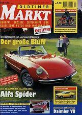Markt 4/96 1996 Alfa Spider BMW 2002 Daimler 250 V8 Saloon Strolch Toyota Celica
