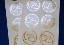 60/80/100x Envelope Sticker Gold Foil Stamped Invitation Seal Wedding Engagement