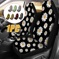 Flower Pattern Car Front Seat Cover Protector Cushion Truck Van SUV Universal