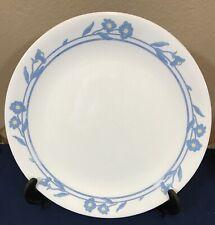 "3 CORELLE CORNSILK 10 1/4"" DINNER PLATES BLUE YELLOW FLOWERS"