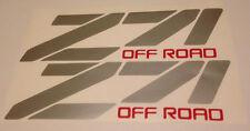 Z71 OFF ROAD Logos S Chevy GMC Vehicle Vinyl Decals Sticker Emblem Graphics x 2