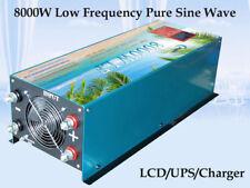 8000W LF Split Phase PSW 12V DC/110V,220V AC 60Hz Power Inverter LCD/UPS/Charger