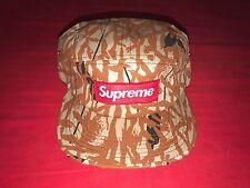 New Supreme Camo Camp Cap Box Logo Hat Strapback