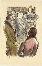 ILLUSTRATION de G. BARRET - Les comédiens sans le savoir - H. de Balzac - 1949.