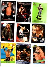 WWE Edge Wrestling Lot of 9 Cards w/ 3 Inserts C1