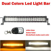 22INCH 120W Led OFFROAD LIGHT BAR 6000k white, Amber, Strobeflash Remote Control