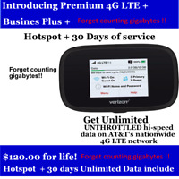 AT&T Hotspot Unlimited Data *NO LIMITS-NO THROTTLE-NO CAPS  $120/Monthly