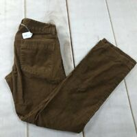 J.CREW Womens Corduroy Boot Cut Pants Brown Stretch Pockets Flat Front 4S