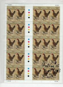 AUSTRALIA  2013 HEN & CHICK # 3083 SHEET FACE $15 AU MNH