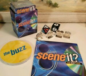 Scene It 2003 Game Replacement Parts DVD Tokenn Cards Dice New Sealed