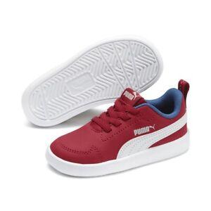 Puma Unisexe Enfants Courtflex Inf Chaussures de Sport Basket Rouge Blanc 362651