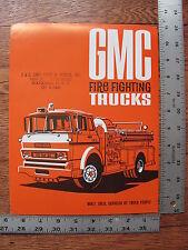 Original 1968 68 GMC Fire Fighting Trucks Dealer Stamp Sales Brochure Literature