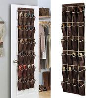 24 Pocket Shoe Space Door Hanging Organizer Storage Rack Wall Bag Closet Holder