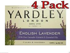 Yardley Bar Soap, English Lavender, 4.25oz, 4 Pack 041840000027A084