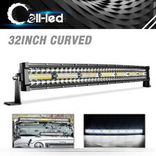 "32"" in CURVED WORK LED LIGHT BAR COMBO FOR JEEP OFFROAD RHINO SANDRAIL BOAT SUV"