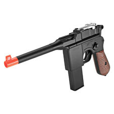 Airsoft Gun Mauser C96 Pistol 280 FPS Metal Broomhandle Spring WWII G12 NEW