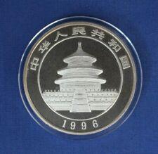 1996 China 1oz Silver Panda 10 Yuan coin in Capsule with COA