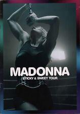 MADONNA 2009 STICKY & SWEET U.S. TOUR CONCERT PROGRAM BOOK / EX 2 NEAR MINT