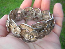GORGEOUS ANTIQUE VINTAGE VERY ORNATE FILIGREE STERLING SILVER BRACELET