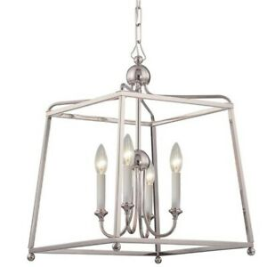 Crystorama Libby Langdon for Sylvan 4 Light Chandelier, Nickel - 2245-PN-NOSHADE
