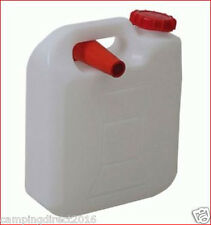 FREEPOST 5 Lt  Water Jerry Can Plastic Camping Storage Container White w pourer