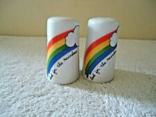 """Vintage """" Look For The Rainbow """" S & P Shaker Set """" BEAUTIFUL COLLECTIBLE SET """""""
