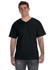 Fruit Of The Loom Adult 5 oz HD Cotton V-Neck T-Shirt 39VR S-3XL Top T Shirt Tee